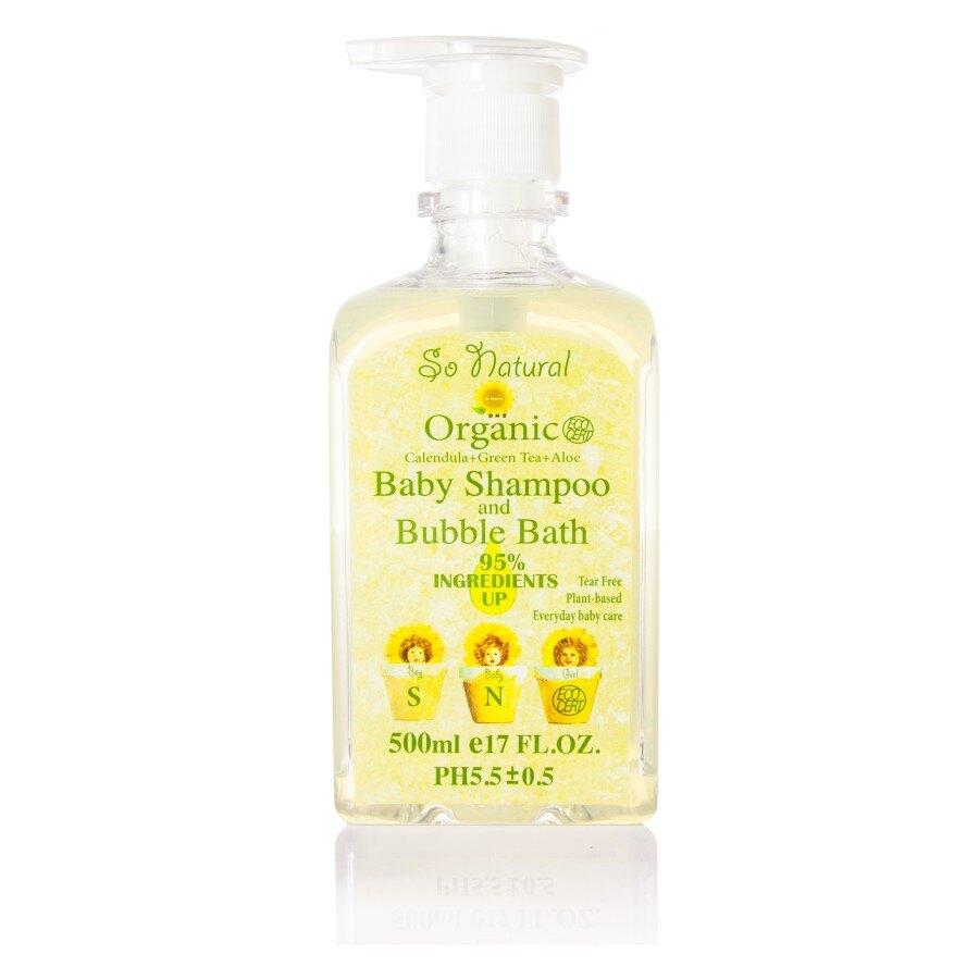 So Natural 舒耐潔 嬰兒洗髮沐浴乳 天然沐浴乳 嬰兒沐浴乳 500ml 台灣製造