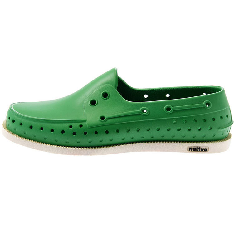 特價5折!! Native|HOWARD GLM11-360-3 帆船鞋系列  休閒鞋 / 晴雨鞋 (草綠x奶油骨)