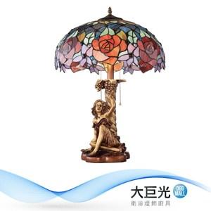 【大巨光】第凡內造型-E27-2燈檯燈(ME-0881)