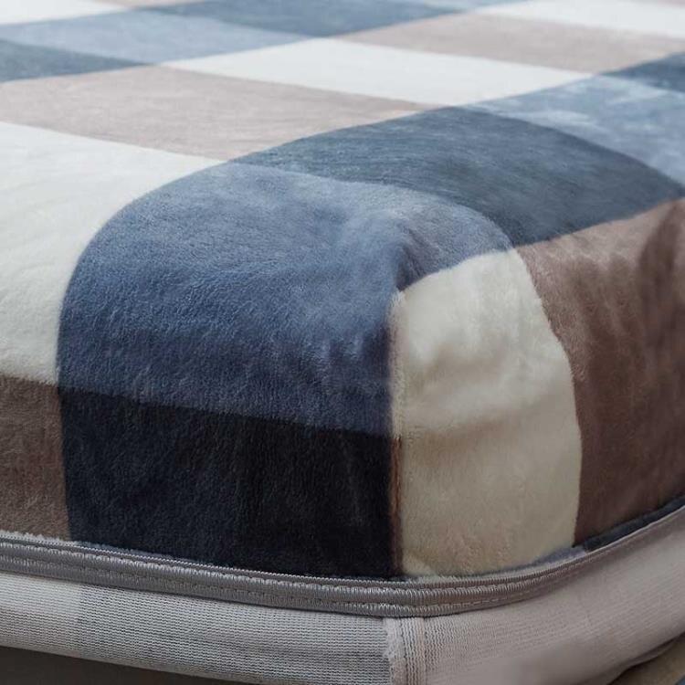 床罩 珊瑚絨床笠法蘭絨床罩斗笠床套加厚保暖防塵罩冬季加絨款毛毯絨面