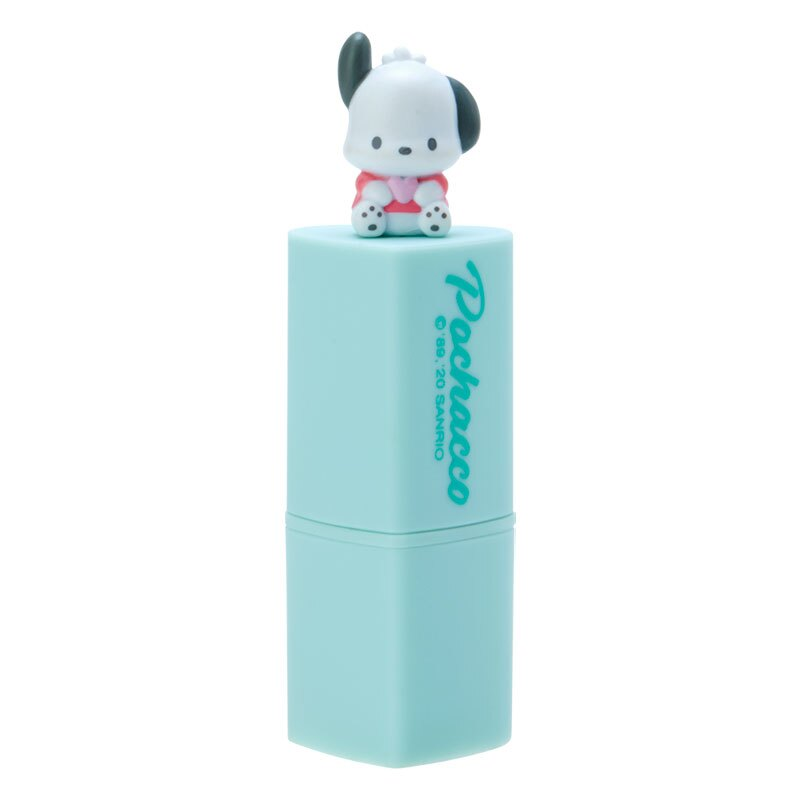 小禮堂 帕恰狗 愛心造型保濕護唇膏 香氛護唇膏 潤唇膏 蜜桃香 (綠 玩偶)