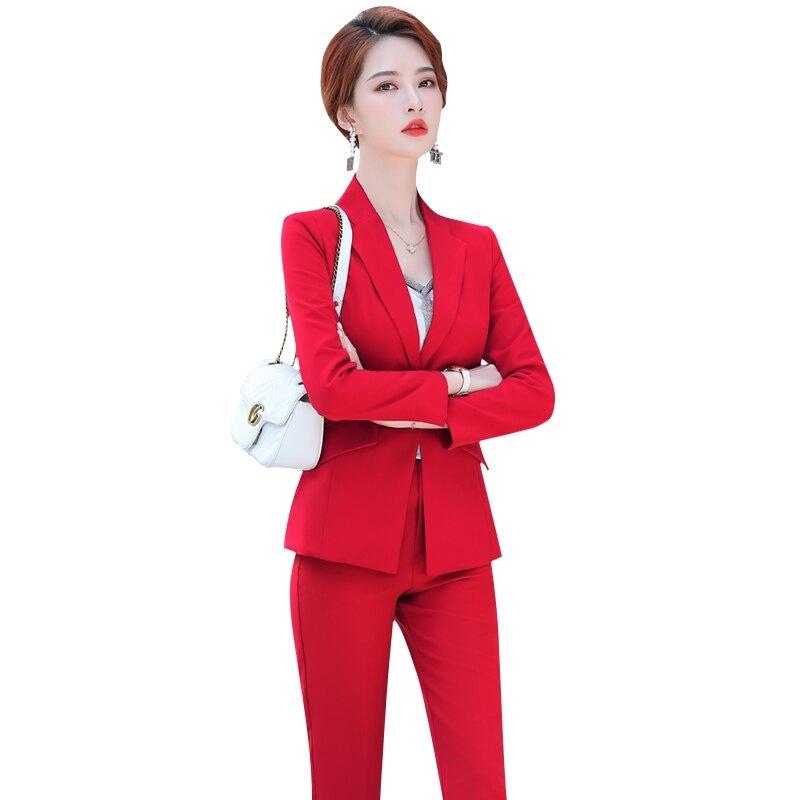 西裝套裝外套+長褲(兩件套)-簡約修身一粒扣純色女西服3色73yz30【獨家進口】【米蘭精品】