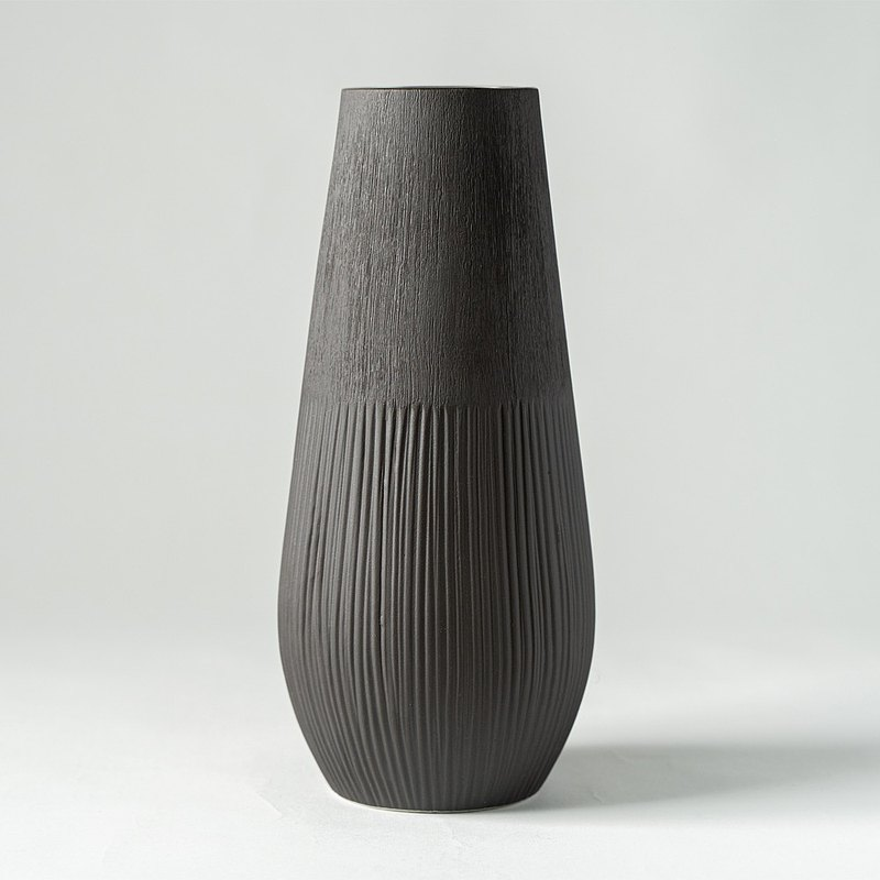 花器/花瓶  深棕雙紋大花瓶