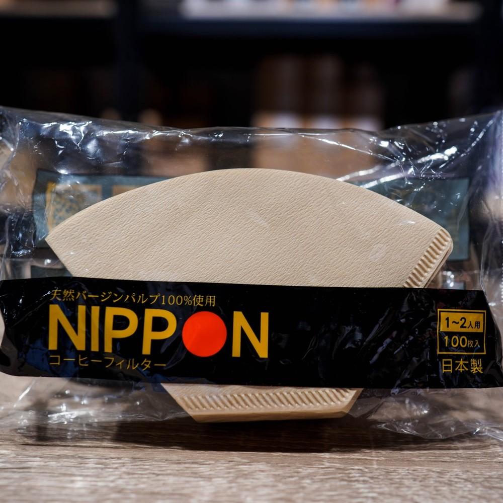 日本原裝進口 nippon 無漂白濾紙2~4人日本製造 扇形濾紙/梯形濾紙 - 扇形(2-4人份)