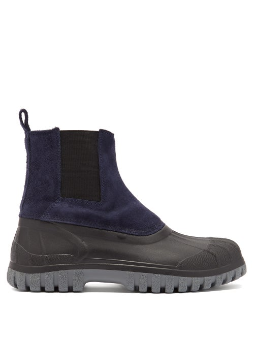 Diemme - Balbi Suede And Rubber Chelsea Boots - Mens - Navy