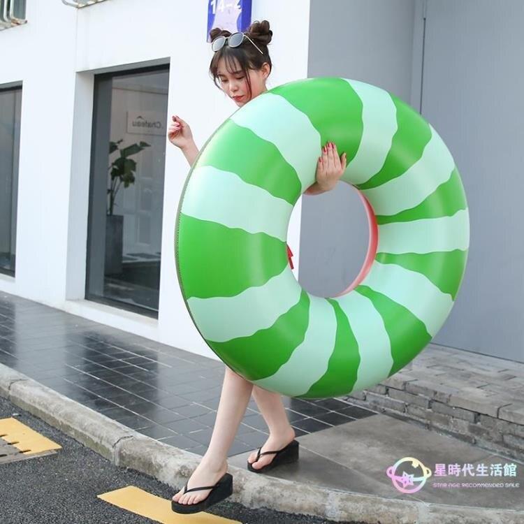 泳圈 加厚加大充氣水上玩具腋下圈 可愛浮圈大人西瓜