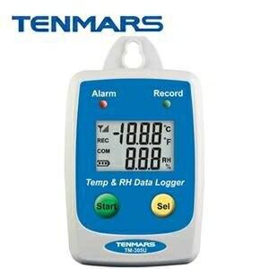 Tenmars泰瑪斯 TM-305U 溫溼度監測紀錄