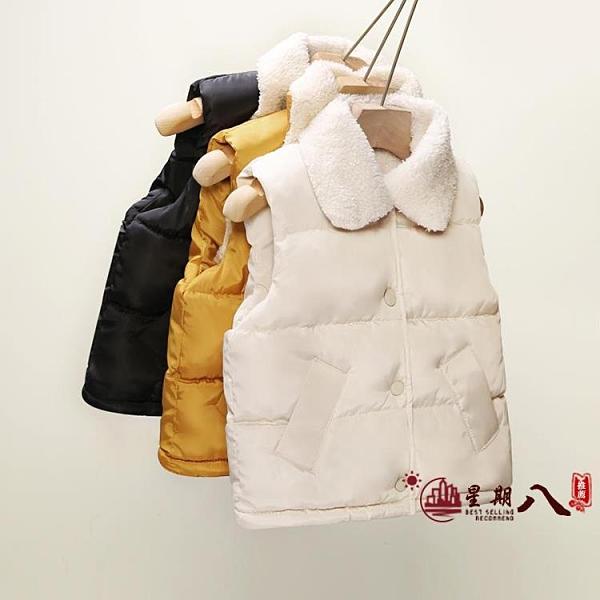 女童馬甲 兒童羽絨棉馬甲女童寶寶羊羔坎肩加厚嬰兒外穿馬夾保曖背心秋冬 VK4452