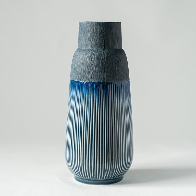 花器/花瓶  蔚藍漸層大花瓶