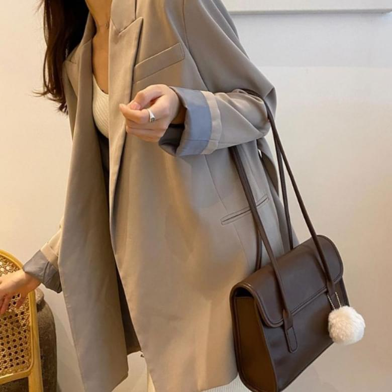 韓國空運 - Urban Bros Square Long Shoulder Leather Bag 肩背包