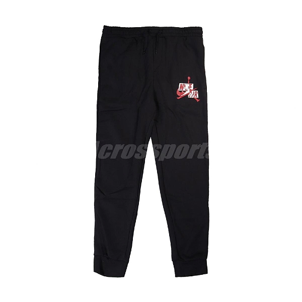 Nike 長褲 AS M J JMC Fleece Pant 黑 紅 男款 喬丹 專業 運動休閒【ACS】 DB6759-010