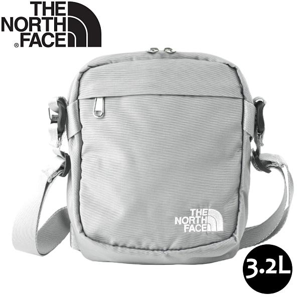 【The North Face 3.2L 側背包《灰/白》】3BXB/側背包/斜背包/休閒背包/通勤/出國