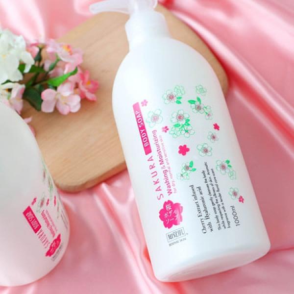 日本 熊野油脂 櫻花水樣沐浴乳 1000ml 沐浴 身體 洗澡 清潔 沐浴乳 沐浴露