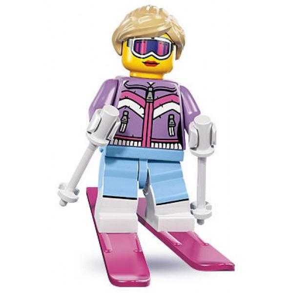 LEGO 8833-7 人偶抽抽包系列 Downhill Skier, Series 8 (已拆封)【必買站】樂高人偶