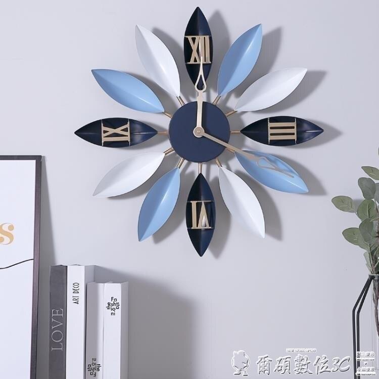 【限時下殺!85折!】時鐘北歐藝術鐘表時鐘掛鐘歐式現代簡約個性時尚家用客廳創意裝飾靜音