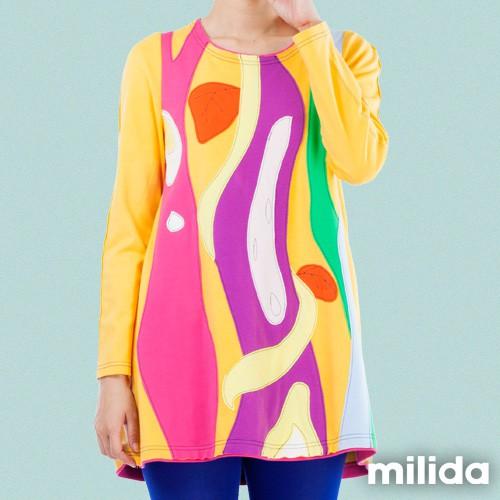 milida 藤蔓拼貼厚棉短版洋裝 MMRYEA022