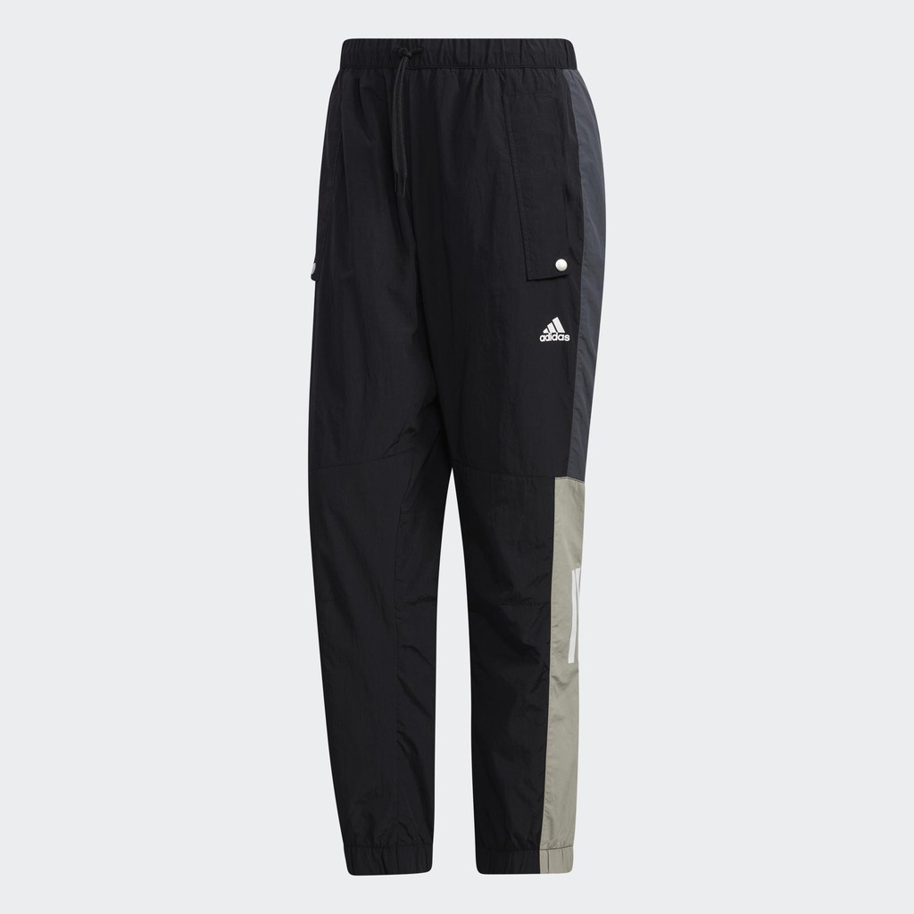 Adidas Must Haves Woven 男裝 長褲 慢跑 休閒 拉繩 按扣口袋 黑【運動世界】GE0393