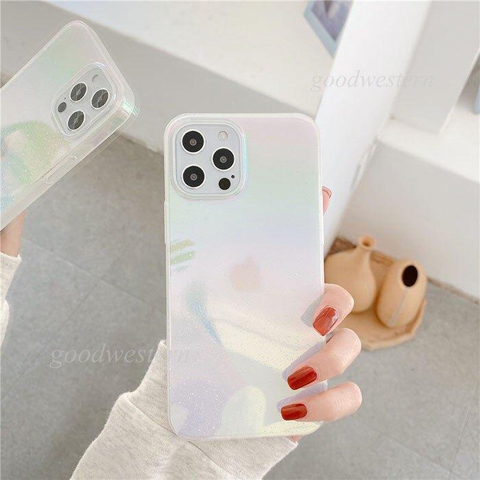 蘋果 i12 Pro max i12 mini iPhone 12  炫彩水滴閃粉手機殼 全包邊 輕薄硬殼 半透明防摔殼