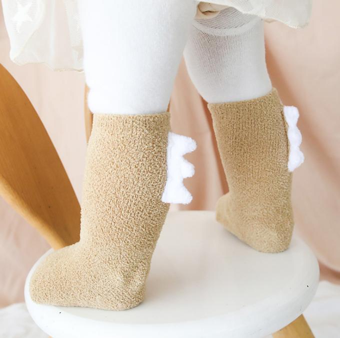 秋冬新款 加厚款 兒童恐龍襪 珊瑚絨童襪 嬰兒襪 兒童襪 恐龍襪 加厚兒童襪