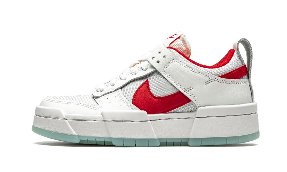 Nike W Dunk Low Disrupt 'Summit White / Gym Red' Shoes - Size 8.5W