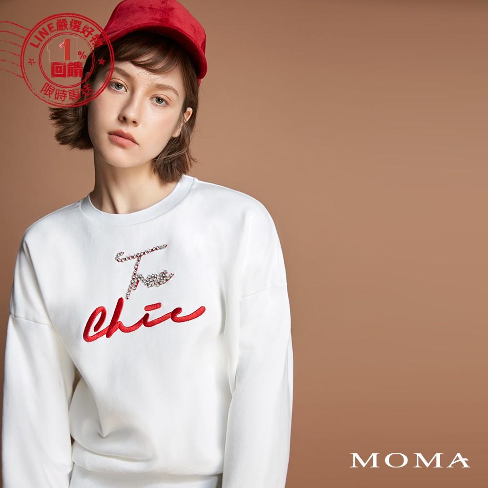 MOMA(92M044)亮鑽字母衛衣
