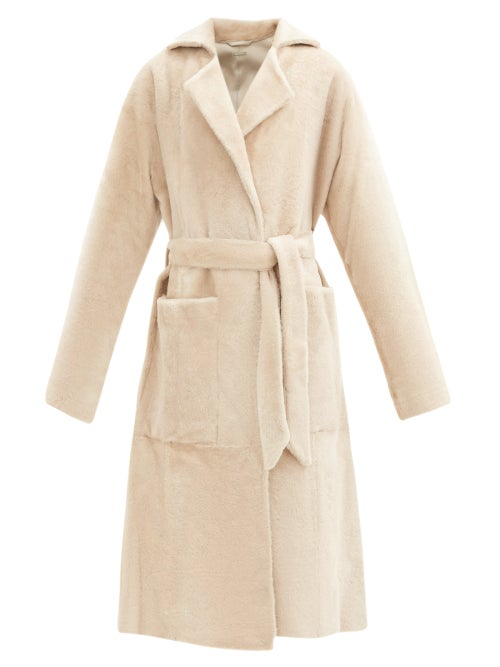 Dodo Bar Or - Collie Shearling Wrap Coat - Womens - Cream