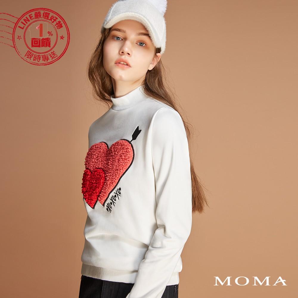 MOMA(92M052)雙心穿箭立領衛衣
