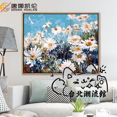 裝飾畫 diy數字油畫風景花卉動漫人物手工繪填色油彩客廳裝飾畫 62