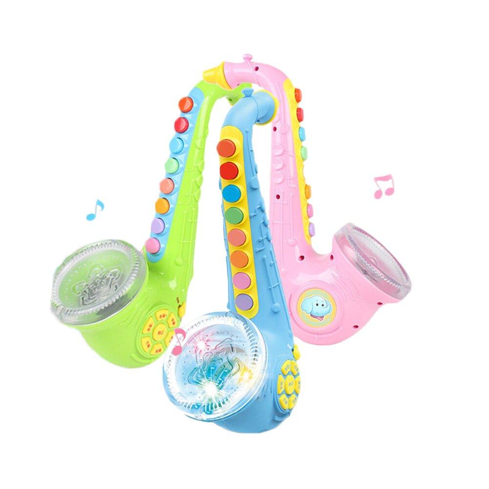 【孩子國】兒童仿真聲光音樂薩克斯風 (可外接手機、MP3)