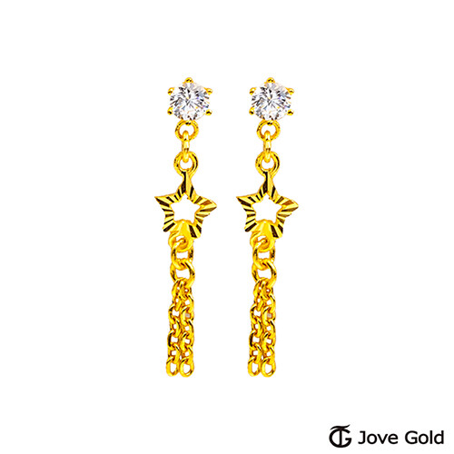 jove gold 漾金飾 流星黃金耳環