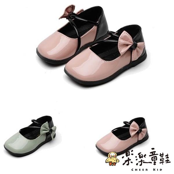【樂樂童鞋】氣質蝴蝶結皮鞋 S975 - 女童鞋 皮鞋 公主鞋 娃娃鞋 小童鞋 學生鞋 表演鞋