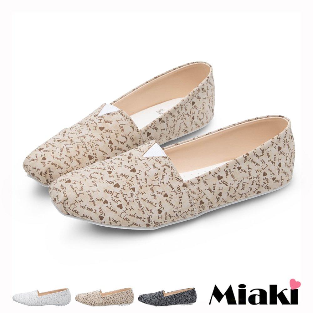 【Miaki】MIT 休閒鞋東大個性字母印花平底包鞋 (現貨+預購)