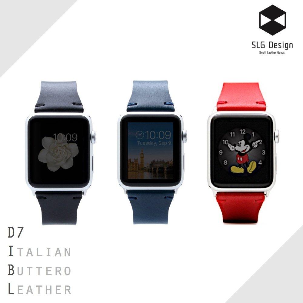 SLG Design Apple Watch 1/2 42mm D7 IBL 義大利頂級真皮錶帶