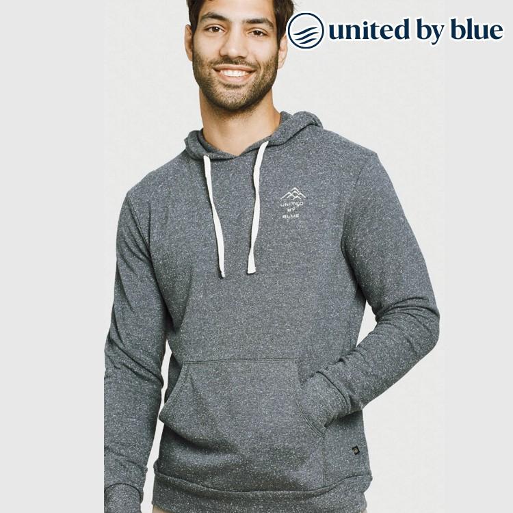 United by Blue 男起球長袖連帽上衣 101-096【深灰】有機棉 環保 帽T 美國品牌