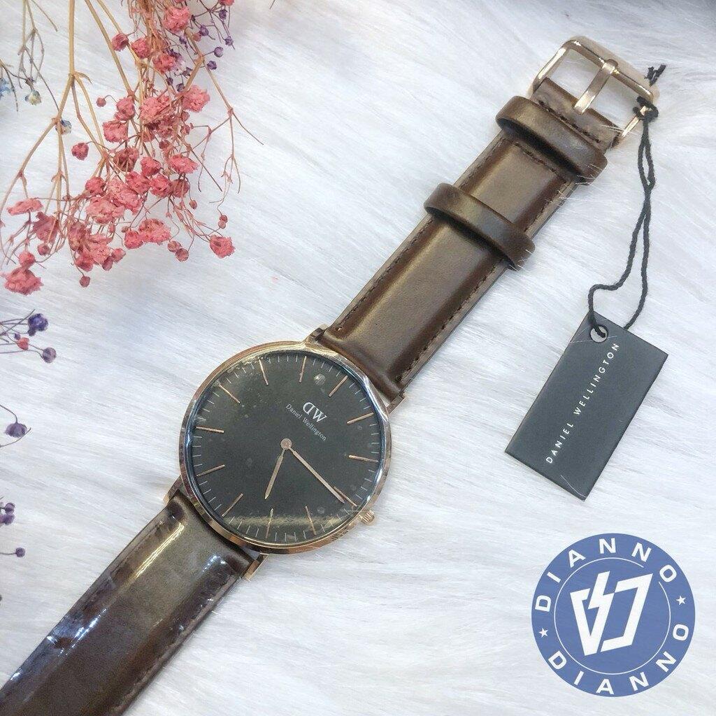 搶券滿千折100↘ | 帝安諾-實體店面 DW Daniel Wellington  經典皮錶帶 簡約 深棕色 男女款 手錶DW00100125▶SUPER SALE 樂天購物節↘超取499免運