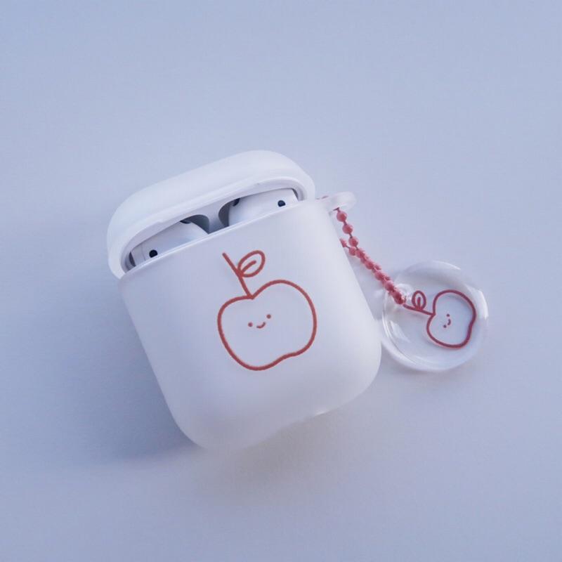 AirPods 蘋果軟耳機保護套 富士小蘋果 含吊飾|預購 五月中出貨【方坊】