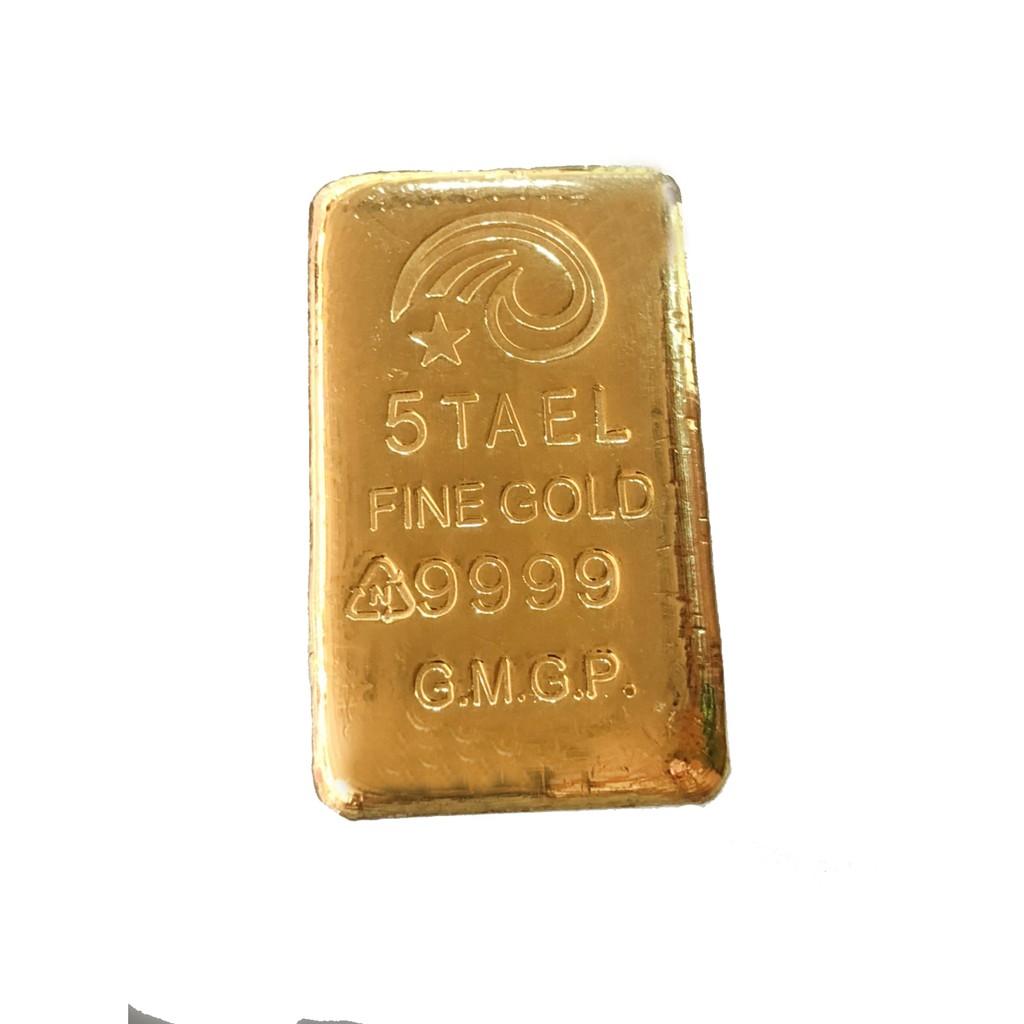 迎鶴金品 純金9999 五台兩純金金塊金條 投資保值 送禮 禮物 現貨