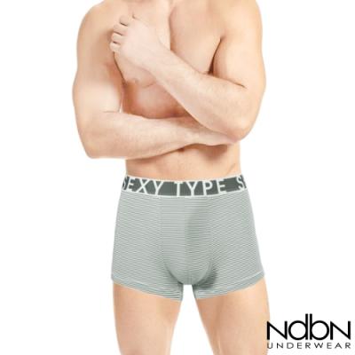 男內褲 NdbN 3D立體彈性運動平口褲-灰綠