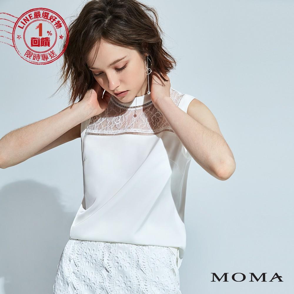 MOMA (92G051)蕾絲拼接背心