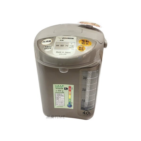 ZOJIRUSHI 象印 CD-LPF40 微電腦電動給水熱水瓶 4L 黑皮TIME 原廠保固 09059