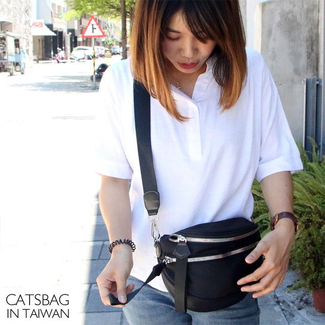 【Catsbag】防潑水雙層尼龍大開口斜背包0018E6