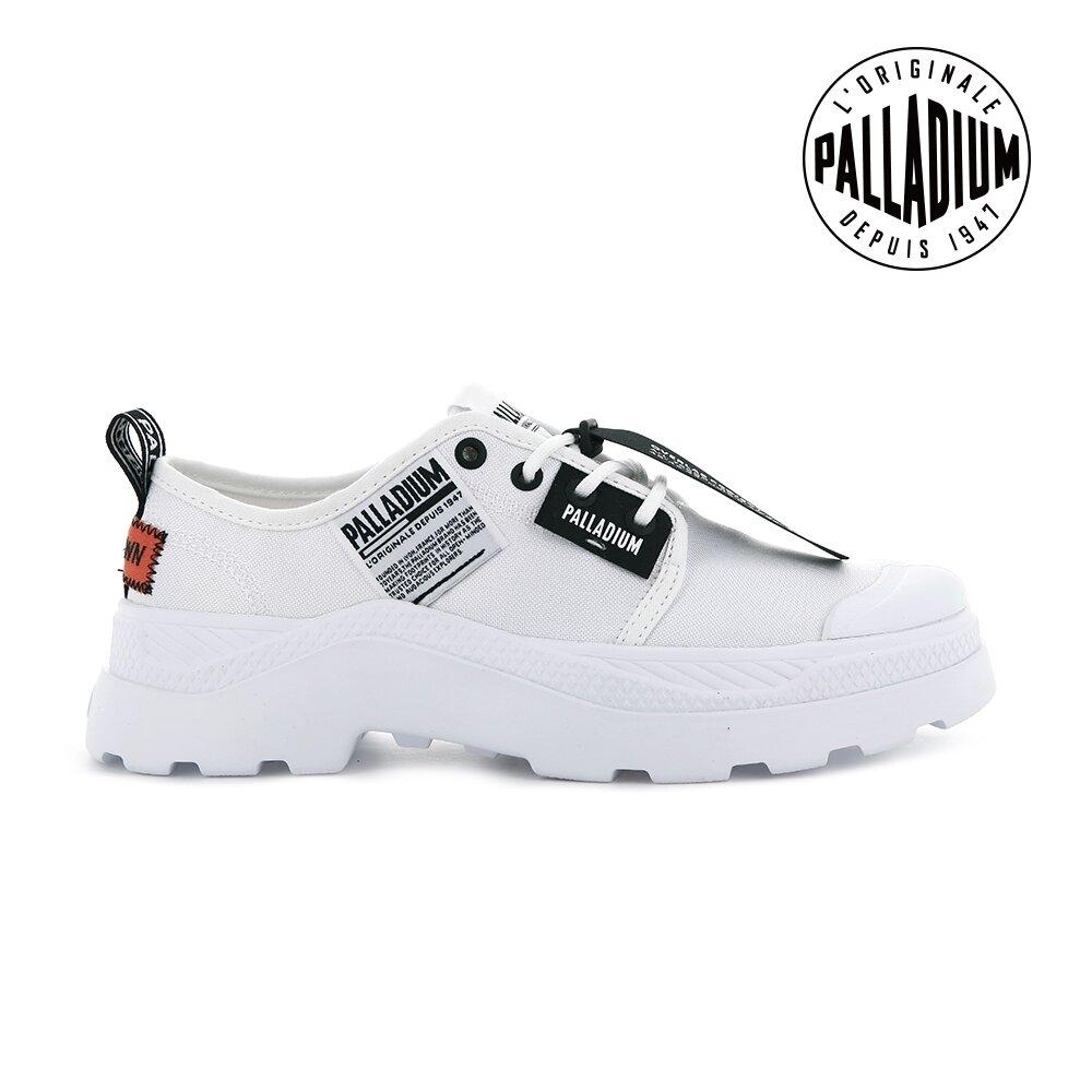 PALLADIUM PALLAKIX OVERLAB標籤軍種休閒鞋-中性-白