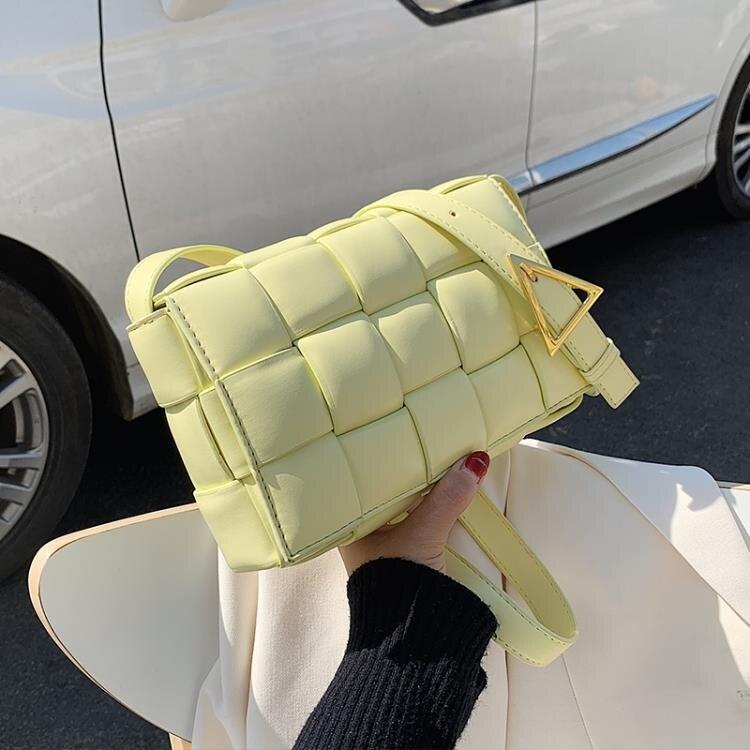 高級感包包洋氣女包流行新款潮時尚編織斜背包百搭網紅小方包