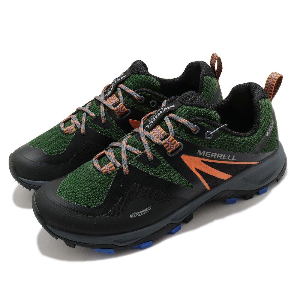 MERRELL 戶外鞋 MQM Flex 2 GTX 男鞋 登山 越野 防潑水 透氣 運動 膠底 黑 綠 [ML034943]