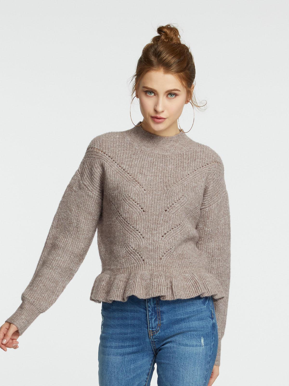 絞花針織毛衣