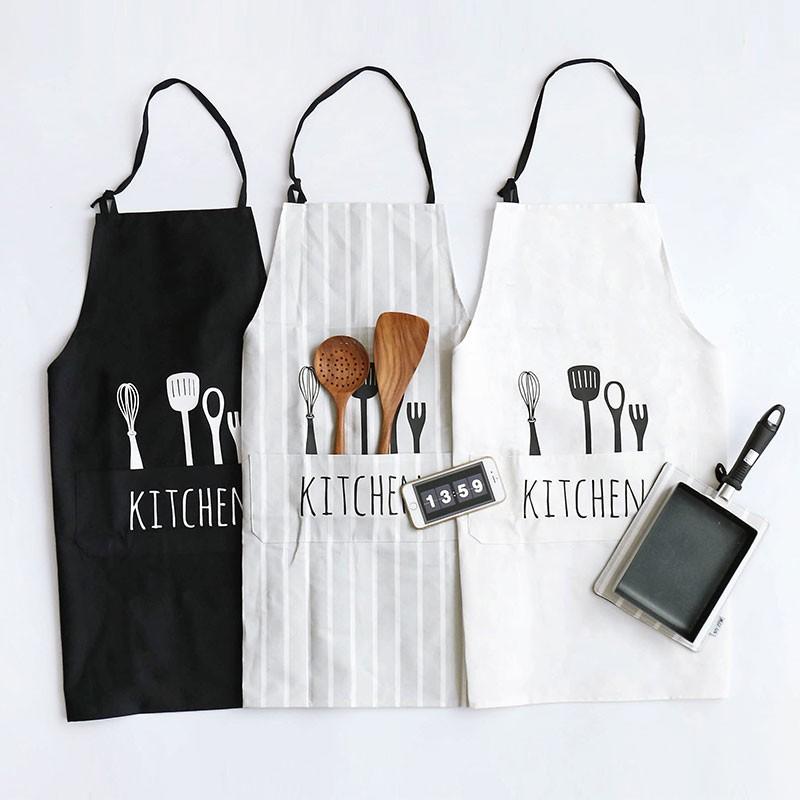 北歐風全棉布藝圍裙廚房家居工作服麵包店半身男式圍裙