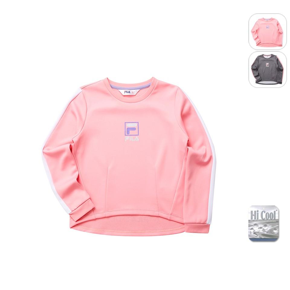 【FILA】KIDS 孩童款 針織圓領TEE-粉紅 5TET-8315-PK