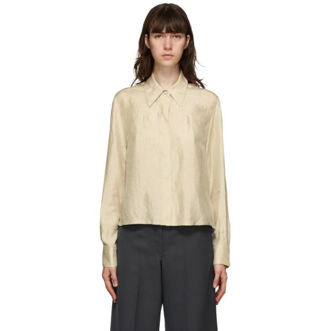 LVIR 米色褶皱衬衫
