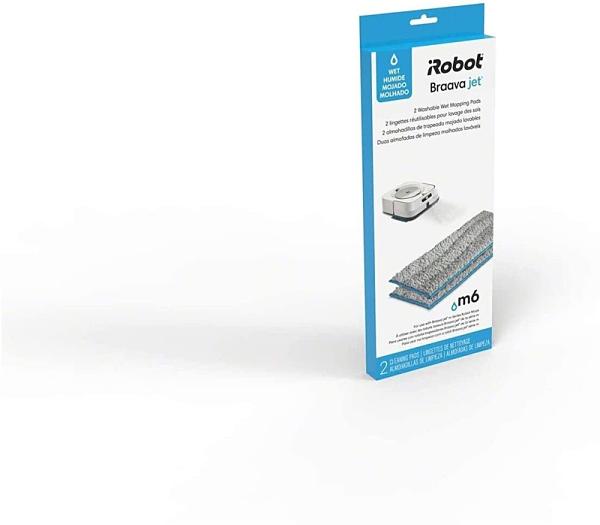 [9美國直購] 原廠 抹布 iRobot Authentic Replacement Parts- Braava jet m Series Washable Wet Mopping Pads, (2-