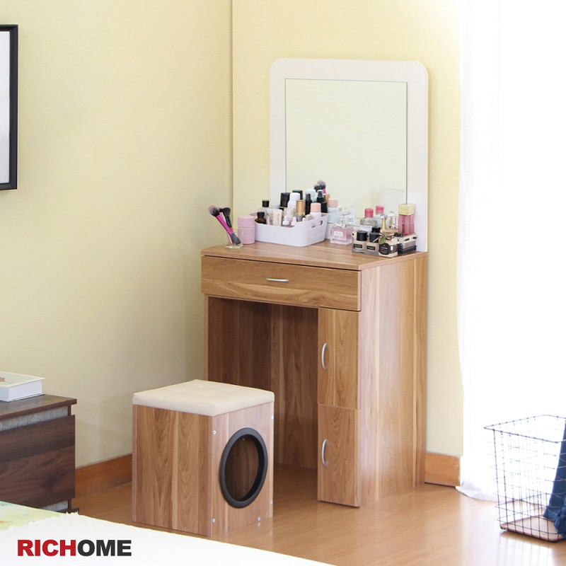 RICHOME TA415 愛麗莎化妝桌椅組-2色 化妝桌 梳妝桌 電腦桌 貓窩 狗窩